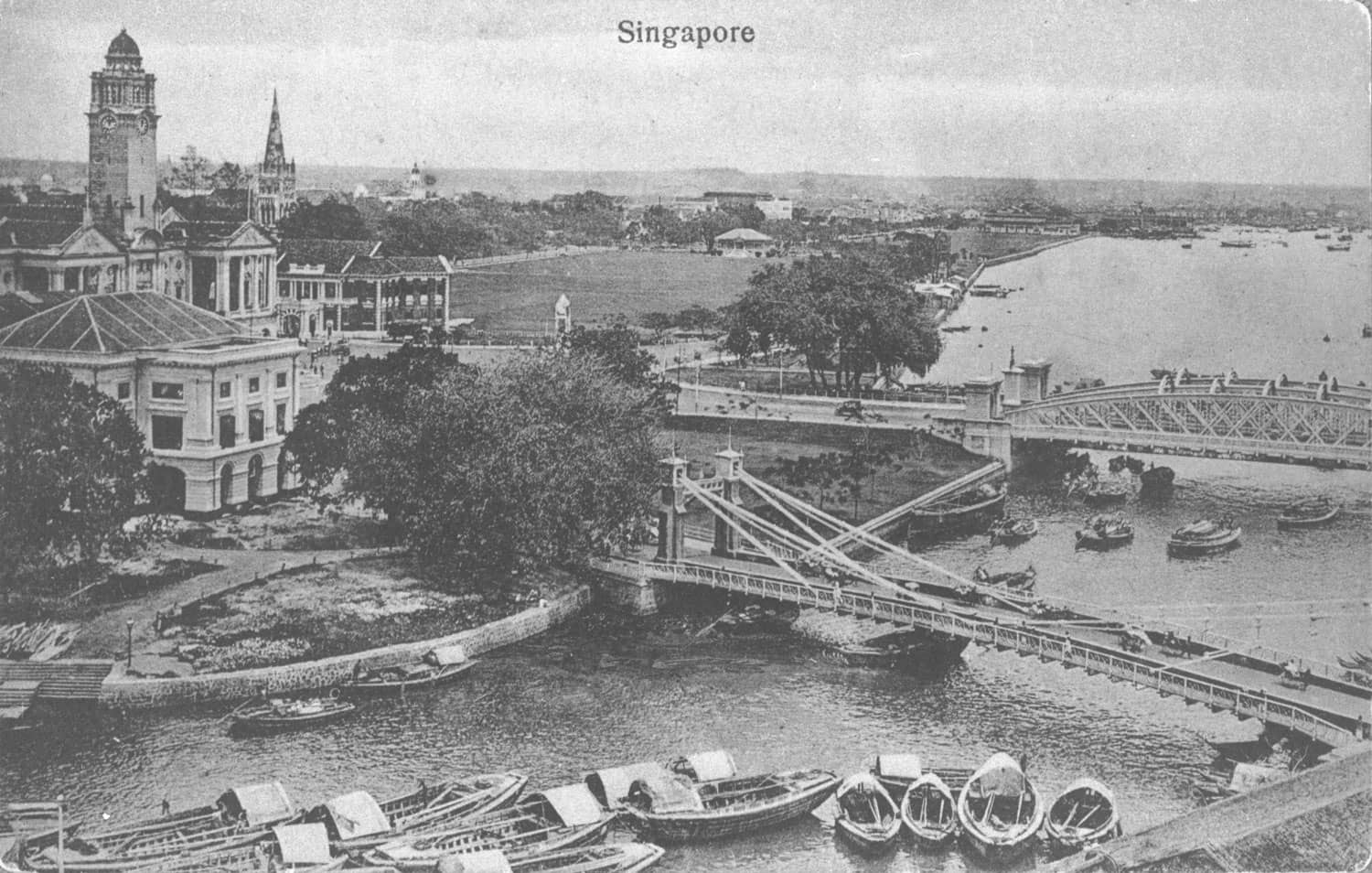 Mouth of the Singapore River, c. 1910