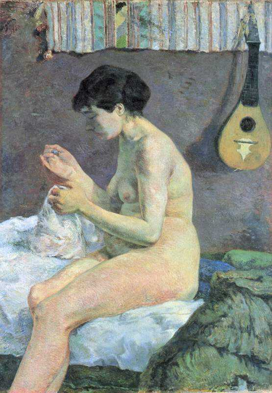 Study of a Nude, or Suzanne sewing is an 1880 painting made by Paul Gauguin in Paris