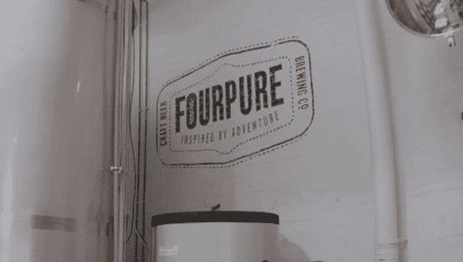 FourPure logo on wall #entrepreneur