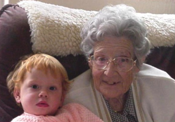 Randburg Granny (then 82) and Sami (then 2) in 2002