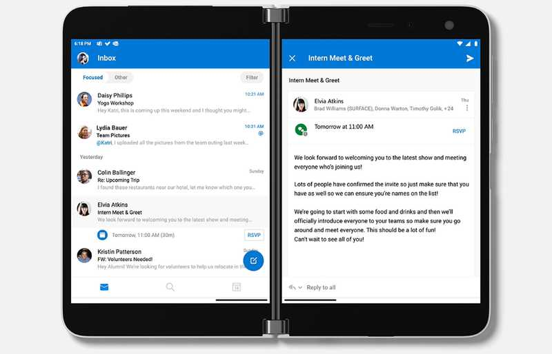 Outlook on Surface Duo
