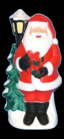 Santa With Tree & Lamp Post photo