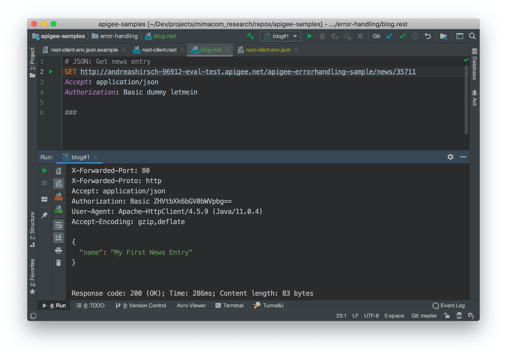 Using IntelliJ Idea to Send a Request to a REST API