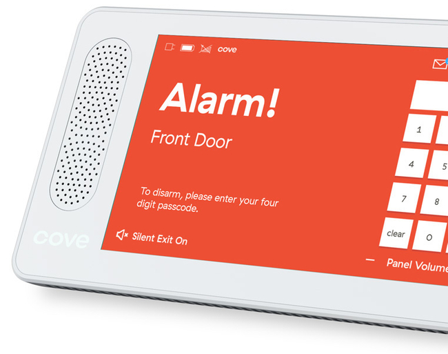 Cove Touch Control Panel Alarm Screen