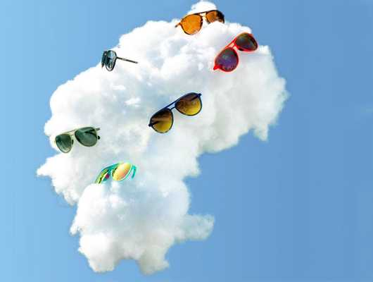 Sunglasses on a cloud representing the article Our Favorite Shopify Plus Sites of 2020