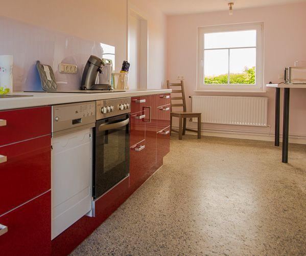 Die rote Küchenzeile