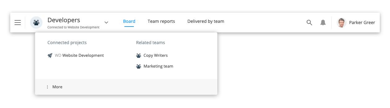 Team navigation