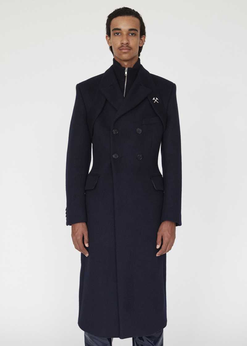 SCANDIUM GMBH AW19 COAT NAVY PREVIEW