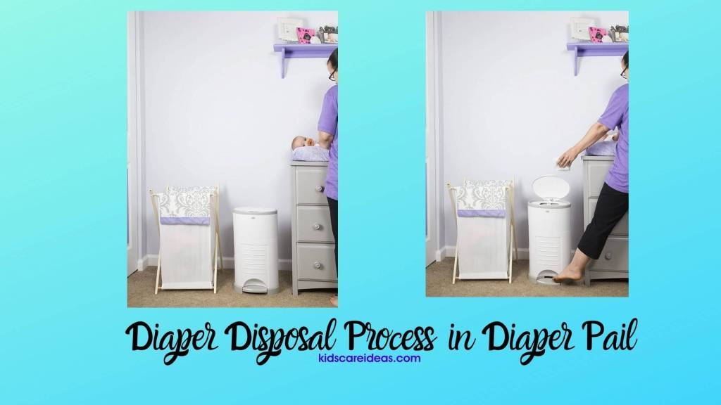 diaper disposal process in diaper pail