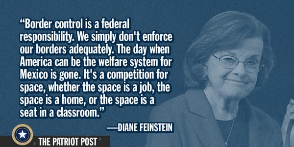 Dianne Feinstein on the costs of illegal immigration