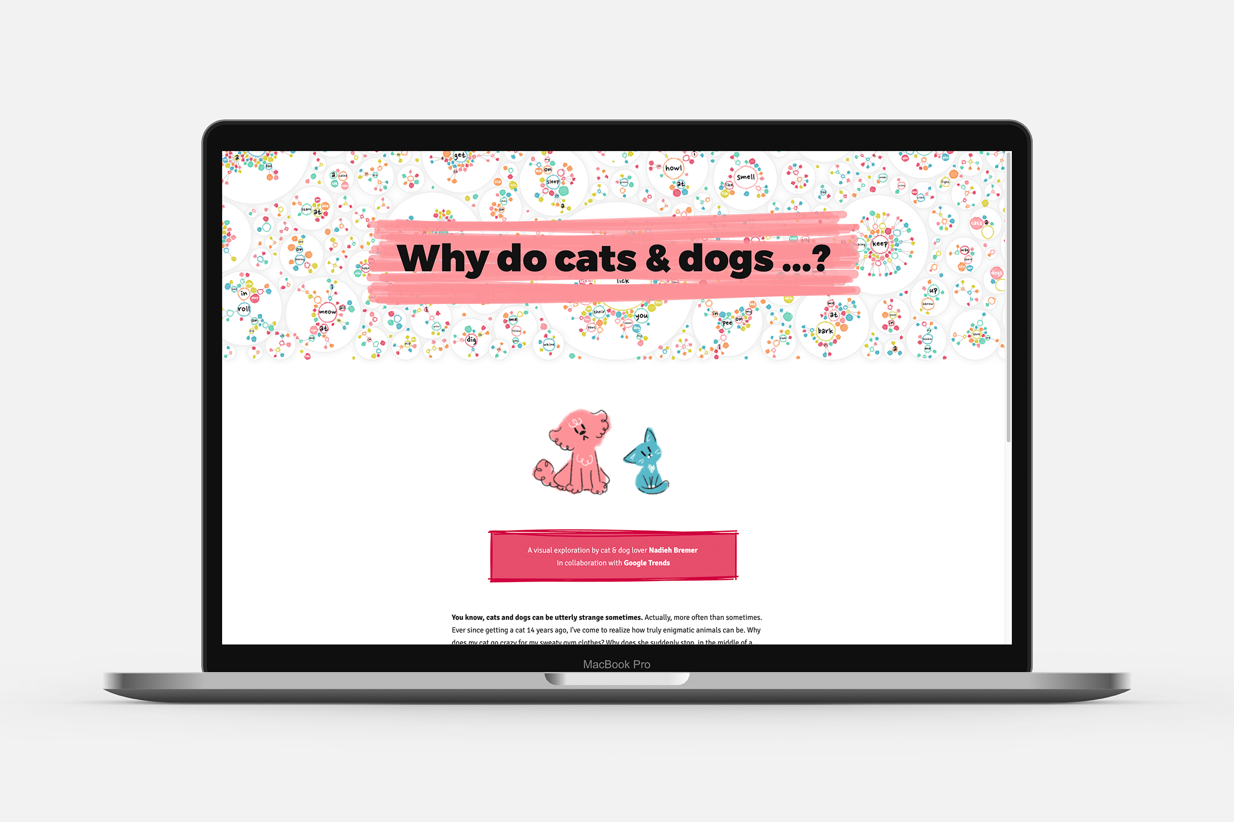 The starting page of the project that lets you choose between cats and dogs