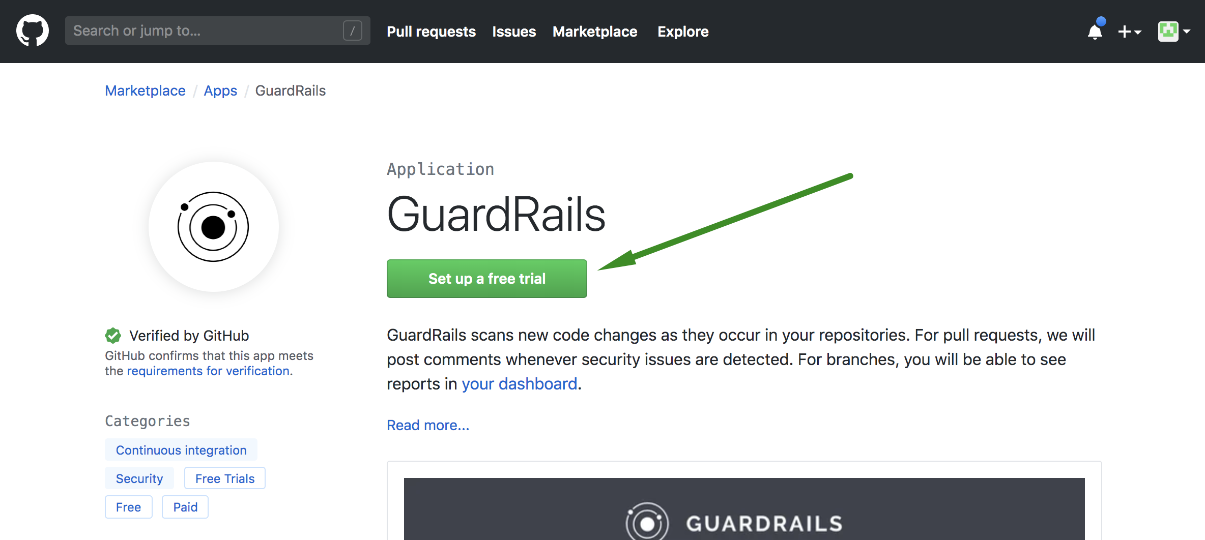 Set up a GuardRails Trial