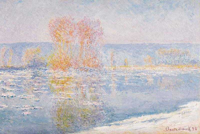 Monet's Les Glaccons Bennecourt sold for $23.7 million in November 2017