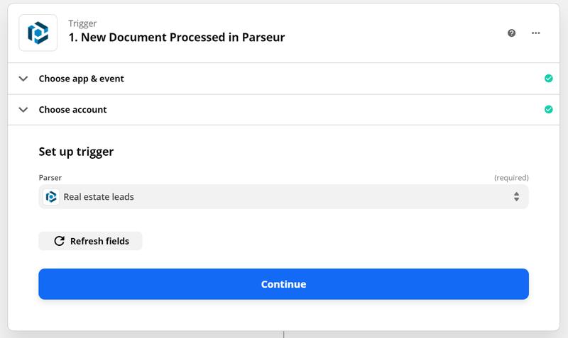Select Parseur mailbox