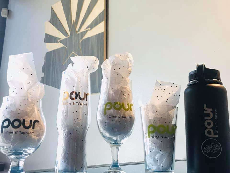 Pour's Beer and Wine glasses for sale