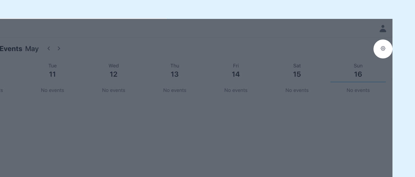 events pages, highlighting the button to enable more events