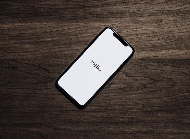 iPhone Saying Hello