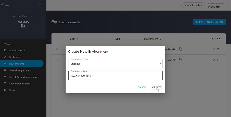 Create New Environment
