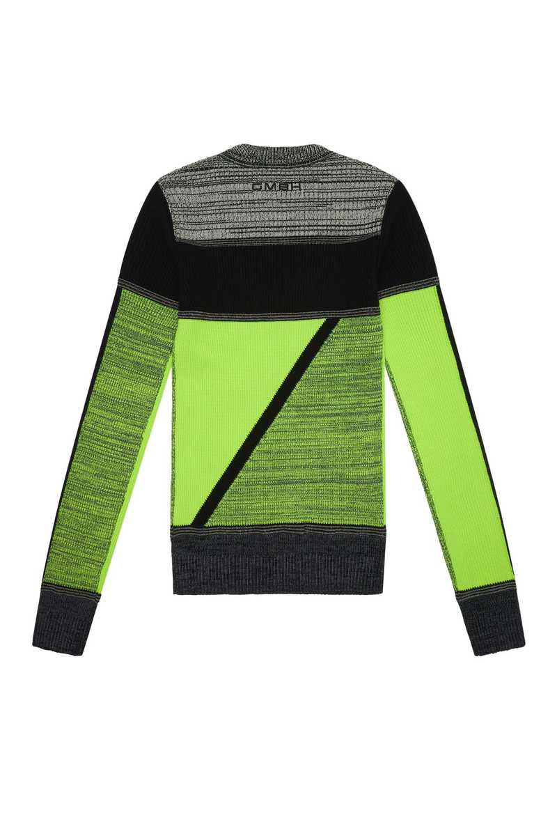 Lyron knit top neon yellow AW21 back