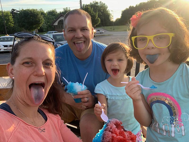 The goofy Shust family