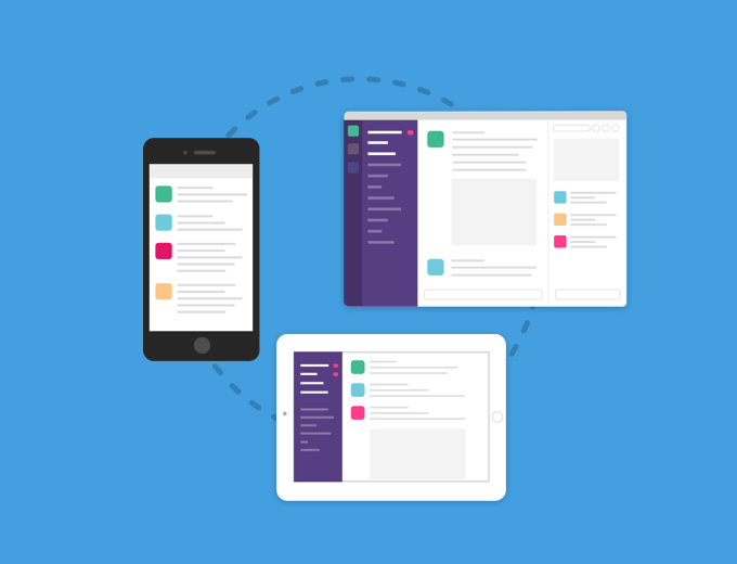 Slack integrations are easy to manage.