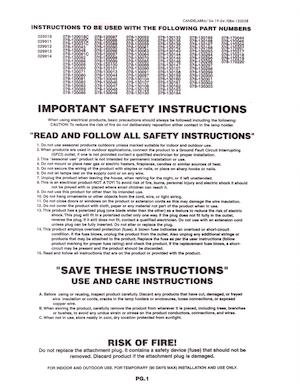 General Foam Plastics Candelabra Light Kit Instruction Manual (2004-04-19).pdf preview