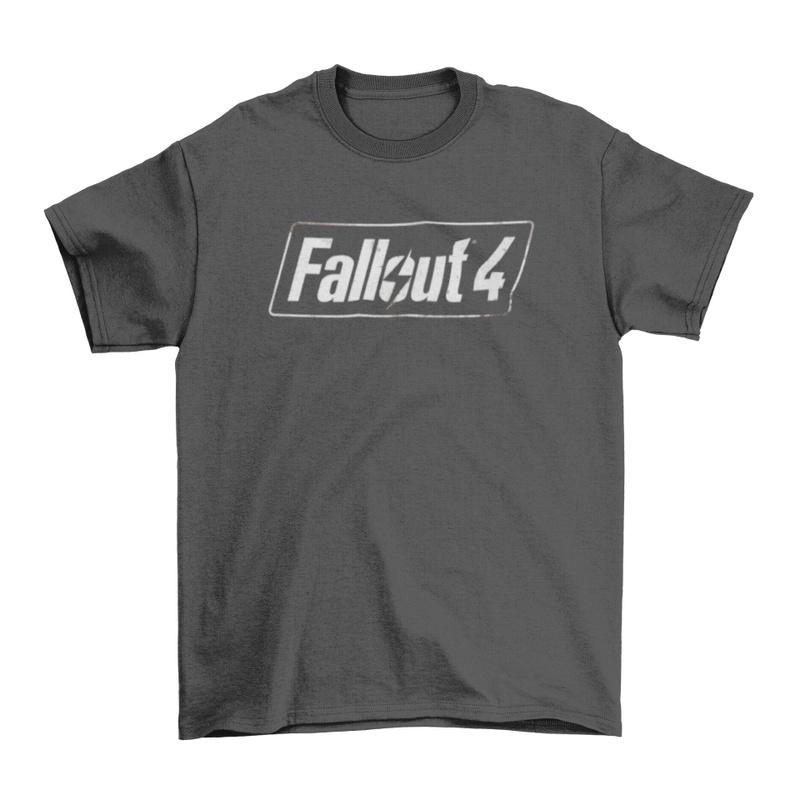 Fallout 4 Logo Men's Charcoal  T-Shirt