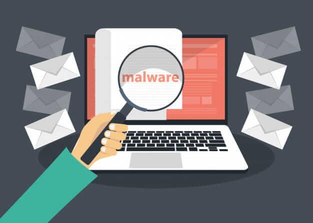 Laptop in Malware