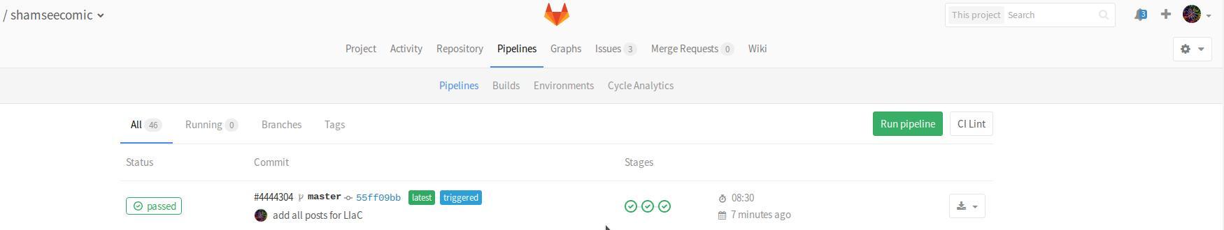 Gitlab Pipeline Log