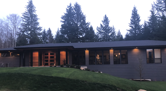 Our family home about 30 minutes outside of Seattle.