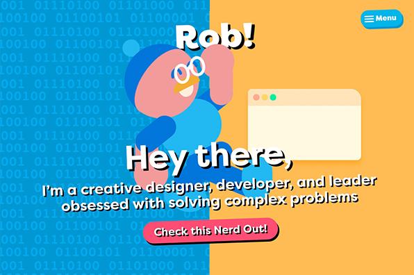 Screenshot of RobErskine.com