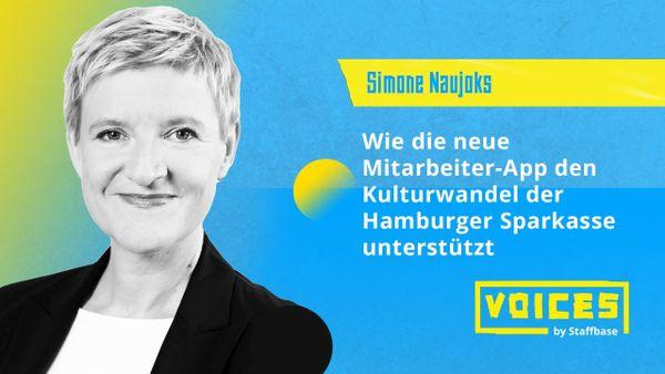 Simone Naujoks: Wie die neue Mitarbeiter-App den Kulturwandel der Hamburger Sparkasse unterstützt