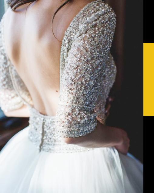 Retouche du dos nus sur la robe de mariée