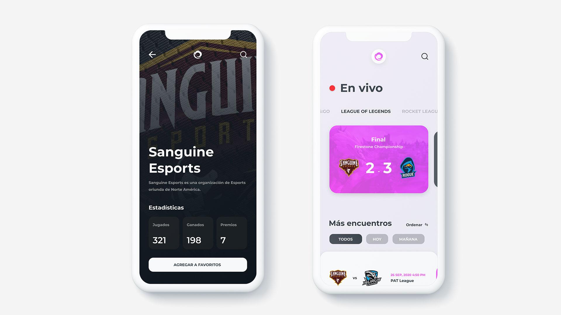 Gaming Esports App