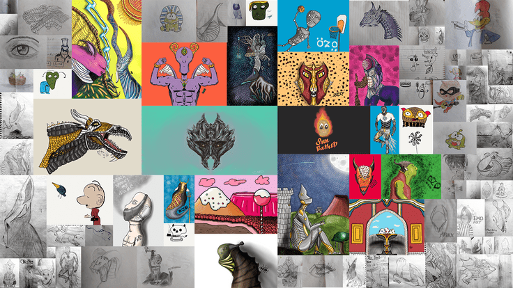 A collage of my drawings