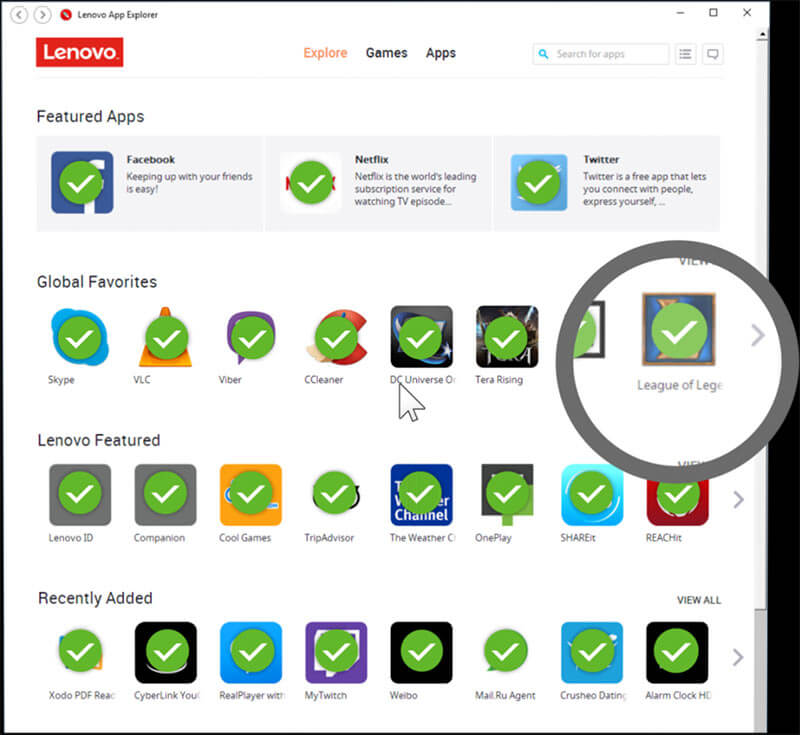 All apps undergo thorough security check before they're featured in Lenovo App Explorer