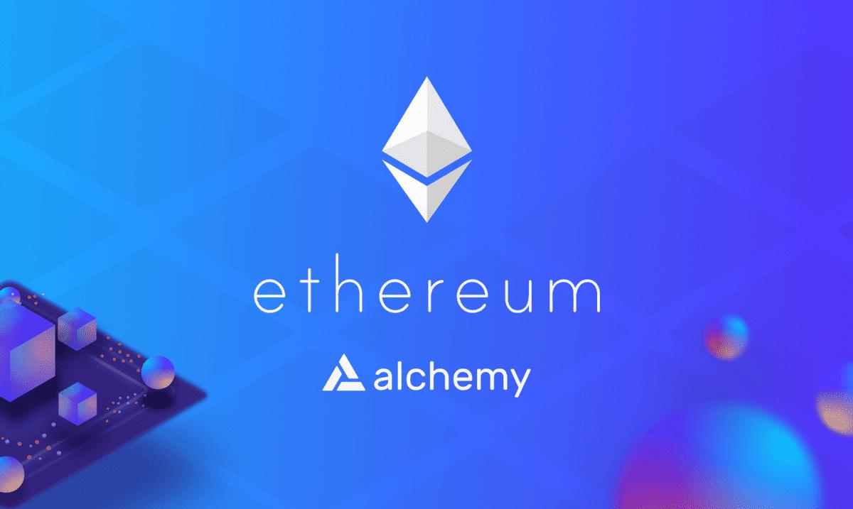 Ethereum and Alchemy logos