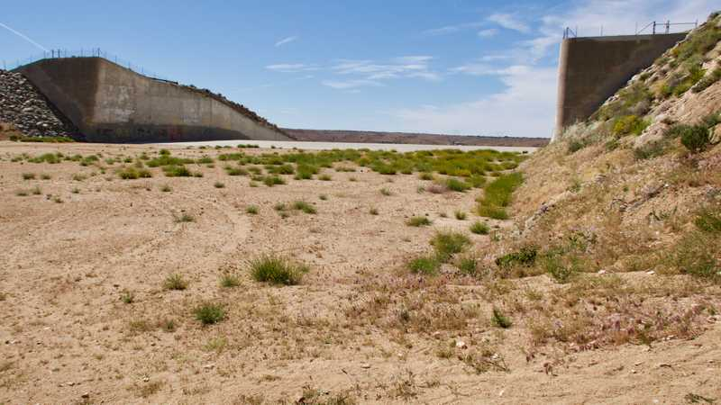 Spillway at Mojave River Dam