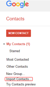 How to Import your contacts in Google Contacts - Covve