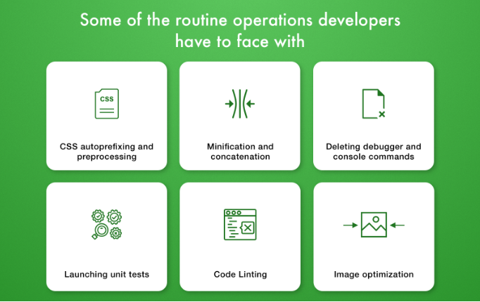 The routine operations developers have to face with