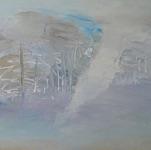 """Elena Serebtyakova, Russia. """"Winter landscape"""" 2000. Canvas, oil, acrylic, 50x70cm"""