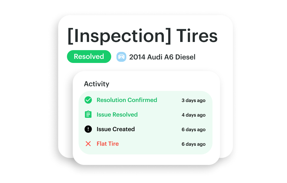 Issue from inspection