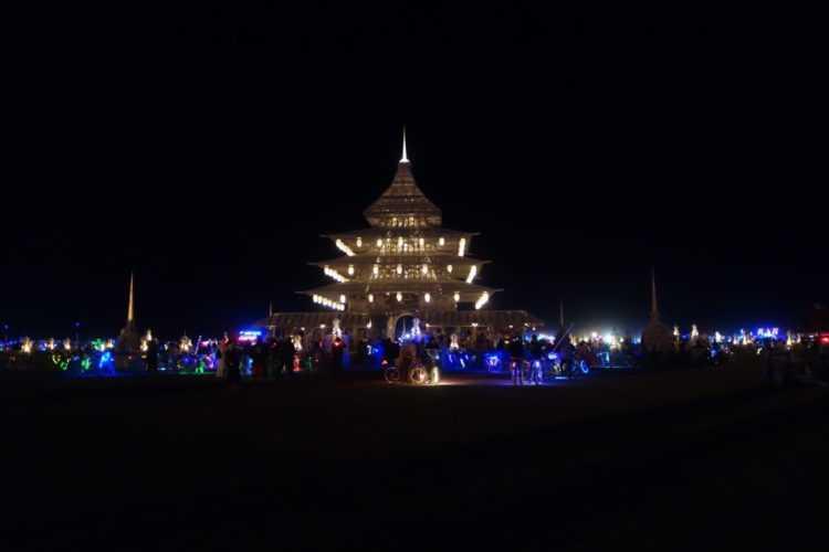 Burning Man 2016 Temple at night