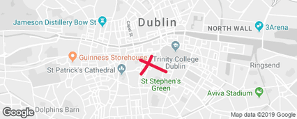 Map of Dublin city center