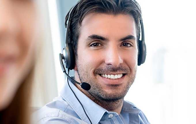 A man wearing a headset.