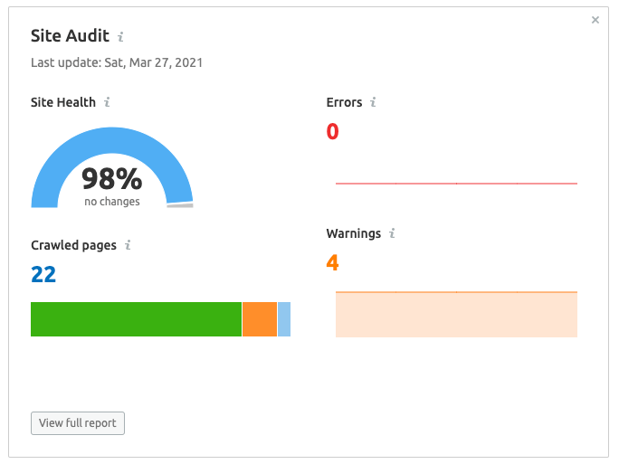 On-page site audit image