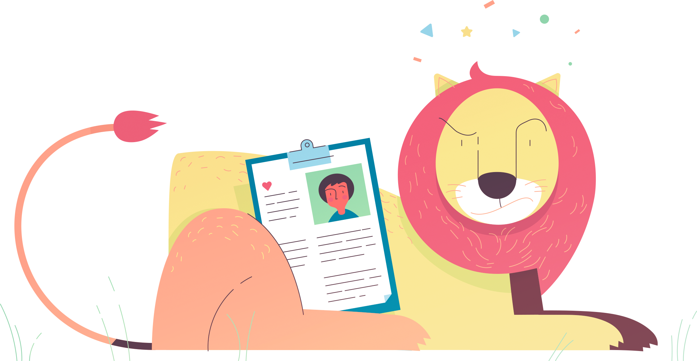 Lion protecting your health records