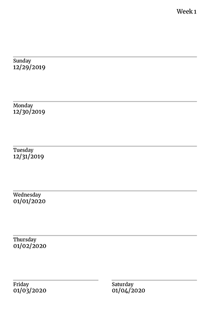 Weekly Planer Template