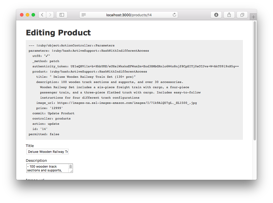 Inspecting data in a Rails view with the debug helper