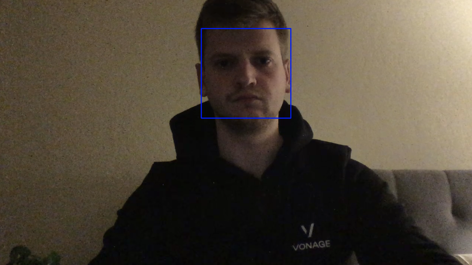 Example below of my face being detected